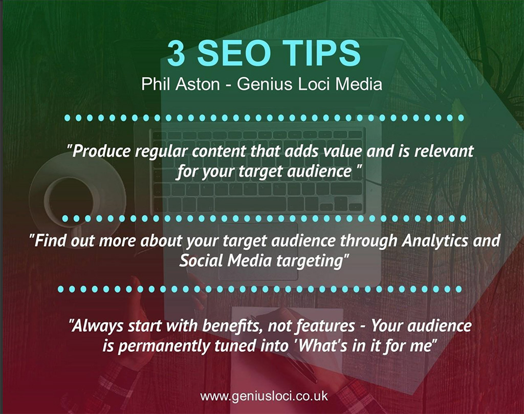 3 Top SEO Tips From Phil Aston Genius Loci Media in Cornwall